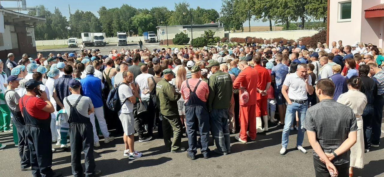 Протест на Гроднеском мясокомбинате