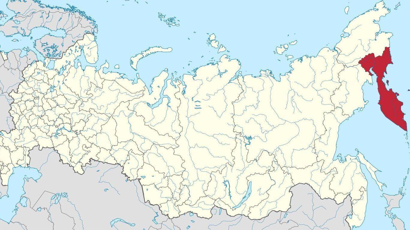 Камчатський край на карті Росії