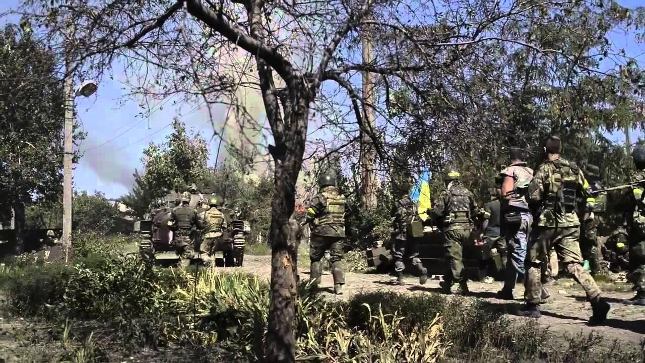 Українські підрозділи в Іловайську.