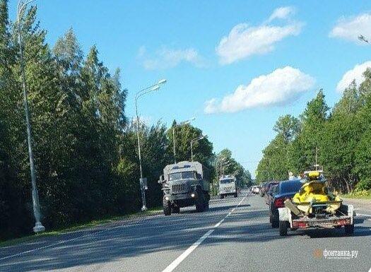 Военную технику, направляющуюся в сторону Беларуси зафиксировали в России.