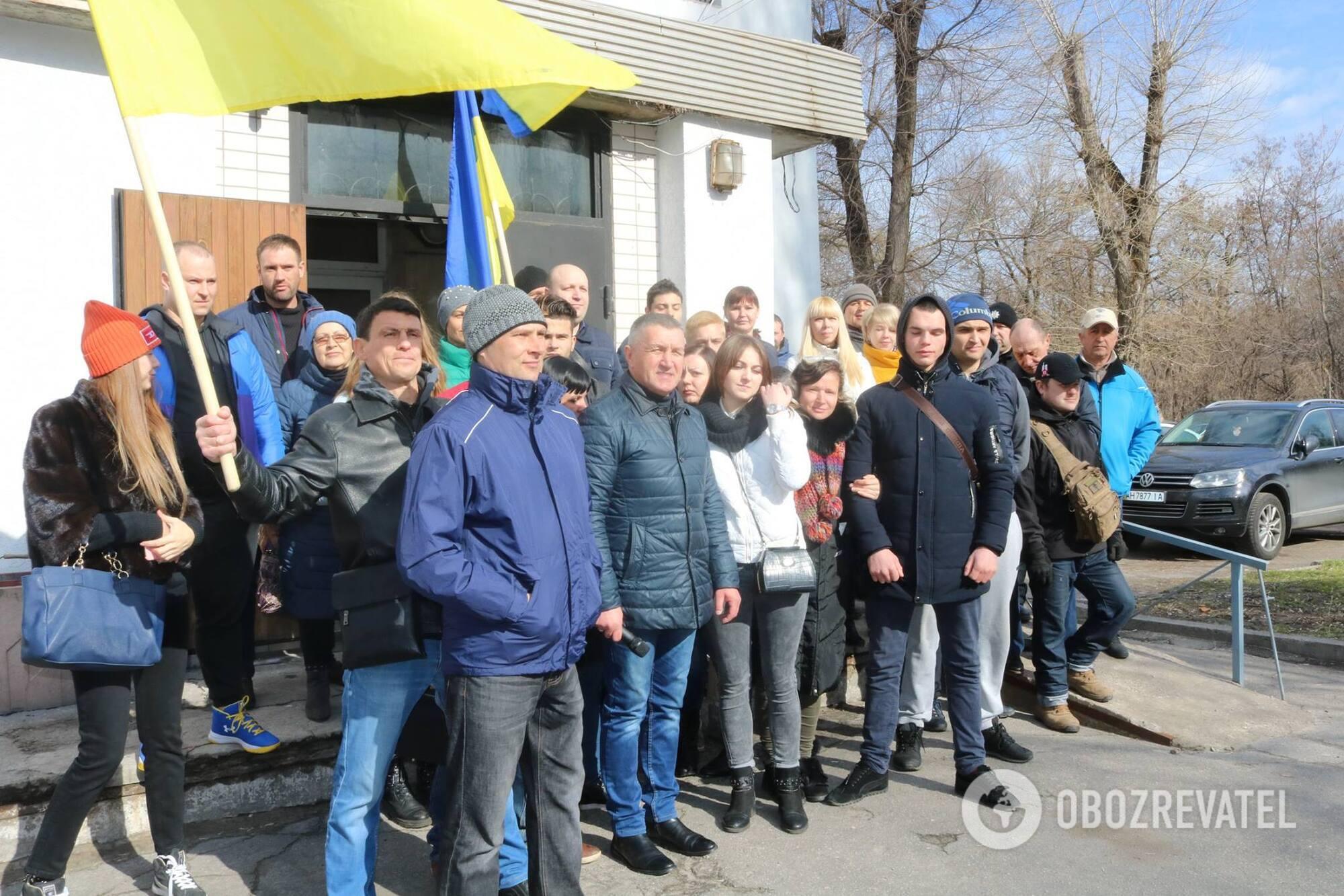 Мітинг під будівлею Дніпровського суду в Кам'янському