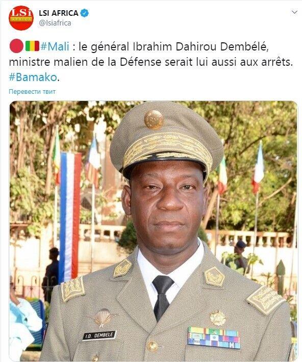 Готовится арест министра обороны Мали генерала Ибрагима Дахиру Дембеле
