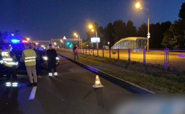Кадры с места ДТП во время протестов в Минске, в котором погиб 19-летний парень