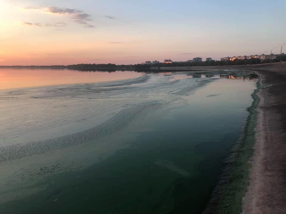 Река Днепр находится в плохом состоянии. Фото очевидцев