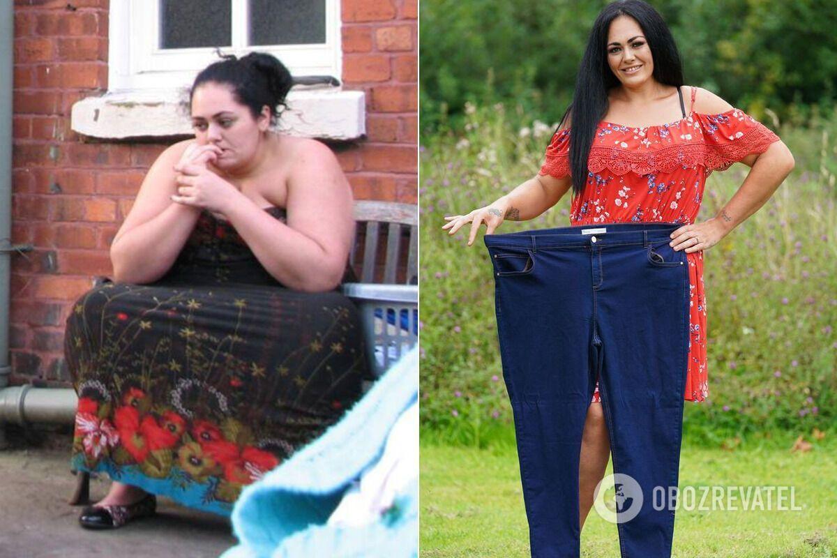 Мать двоих детей скинула 101 кг