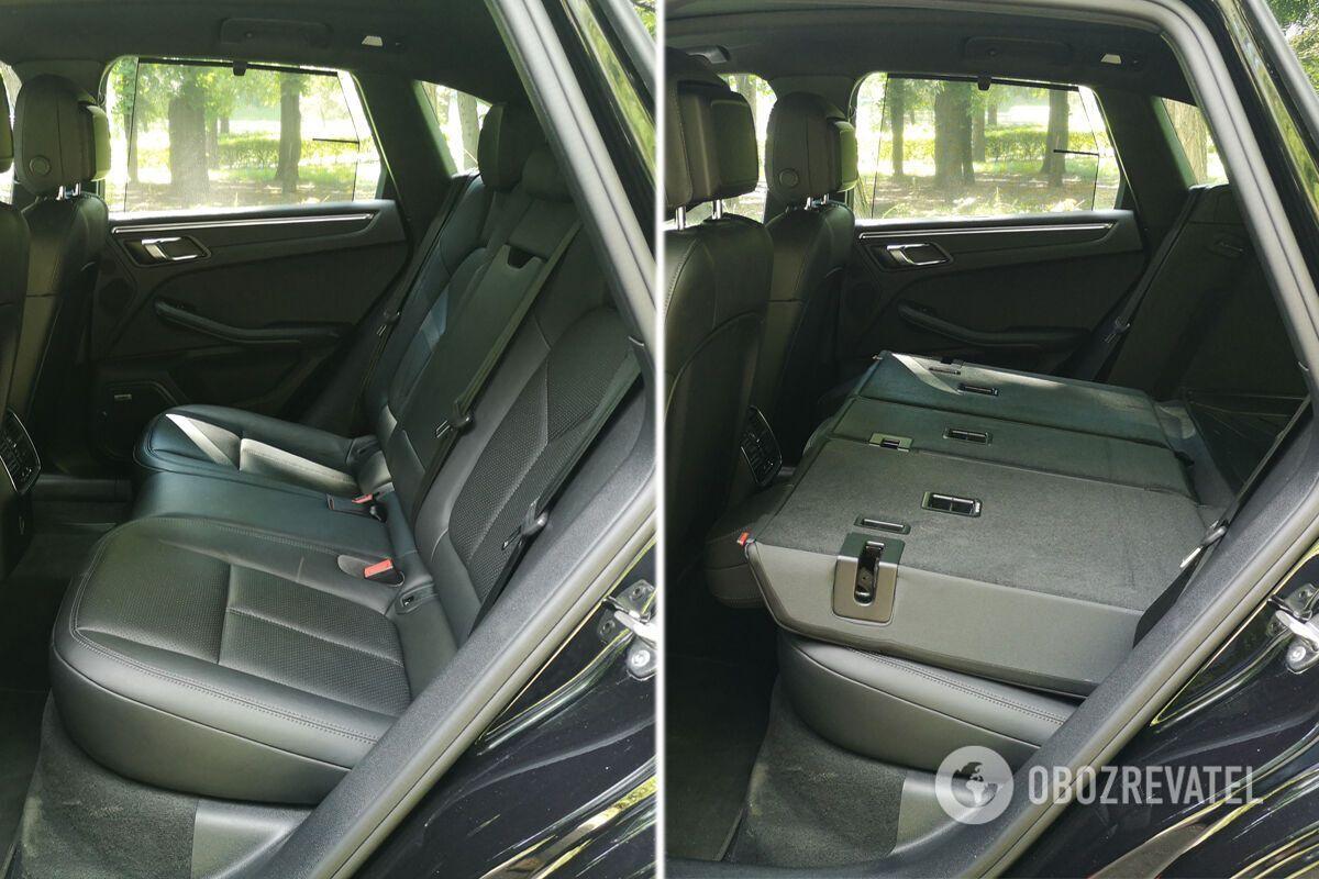 Спинки второго ряда сидений можно сложить как частично, так и полностью. Фото:
