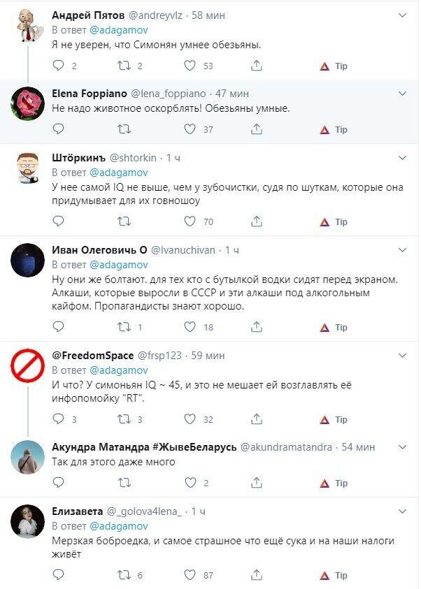 Пользователи оставили много негативных комментариев по поводу высказываний пропагандистки