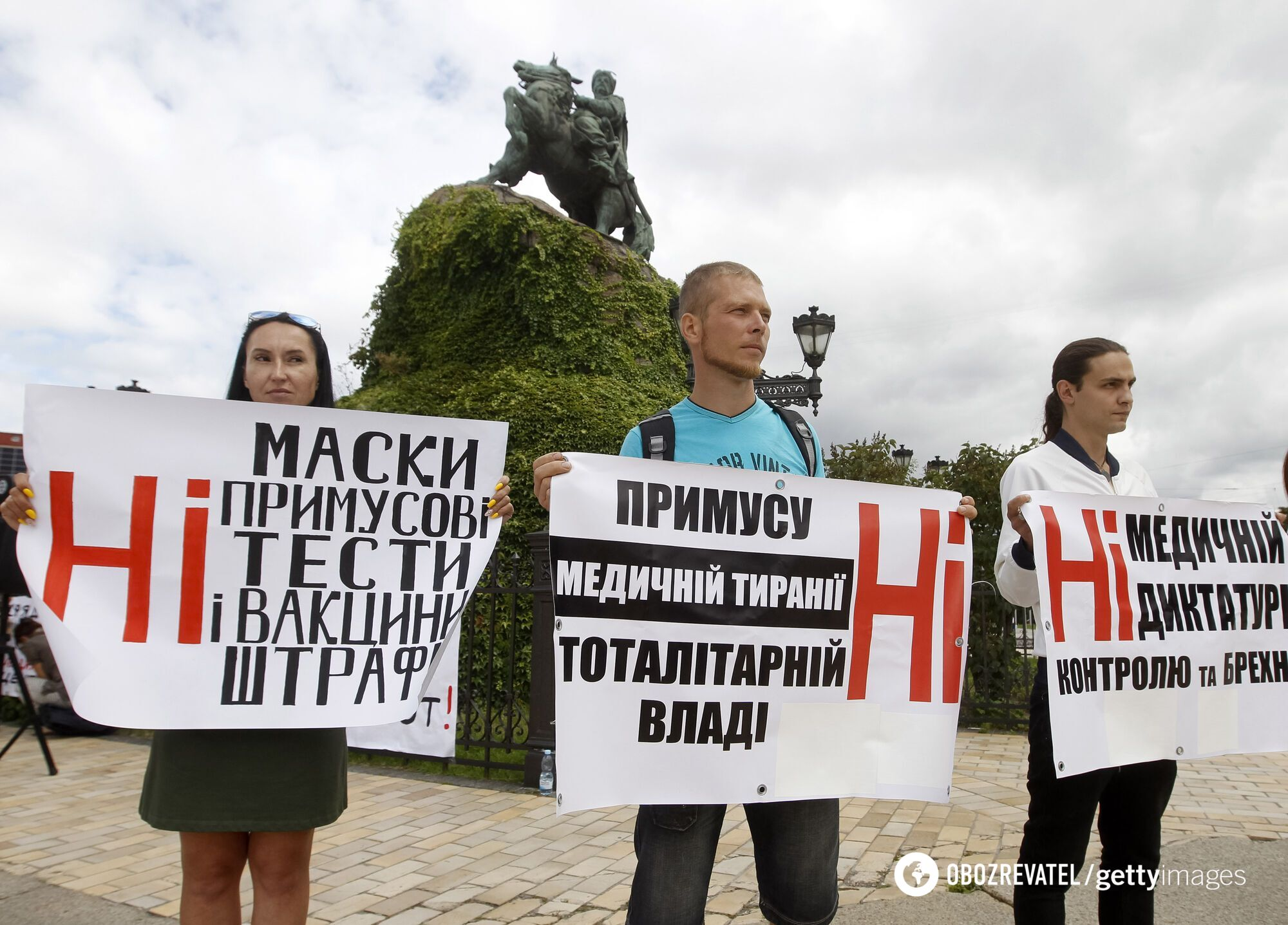 Протест проти коронавірусу в Києві