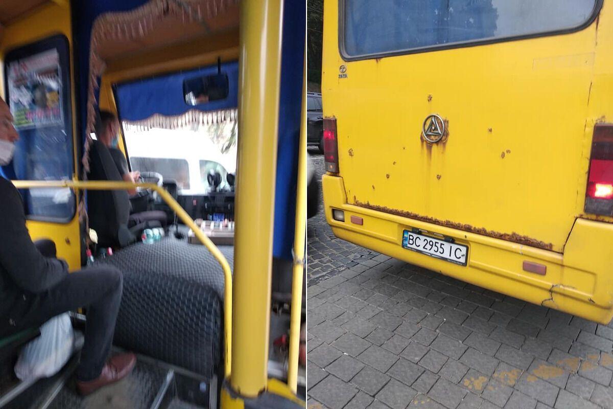 Во Львове водитель попытался выгнать из маршрутки мать погибшего бойца АТО