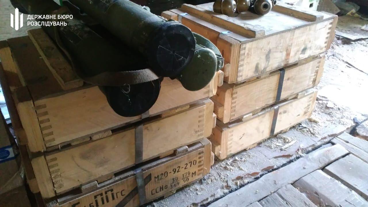 Було вилучено 4 гранати РПГ-26, 5 гранат РГД-5 та гранату Ф-1.