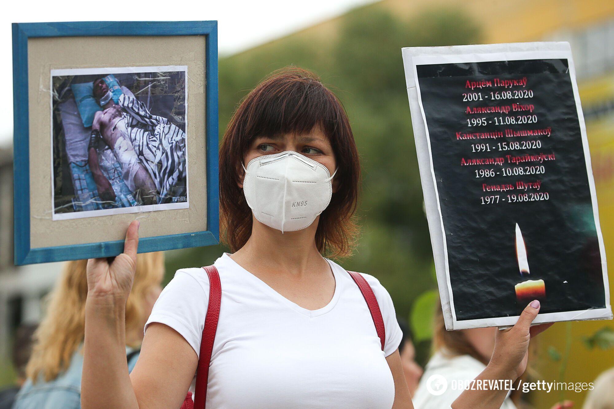 В Минске люди выступили против насилия со стороны силовиков