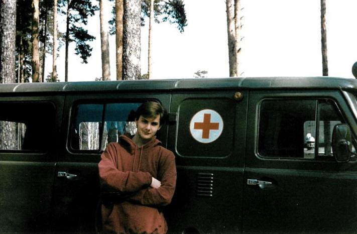 Питер Деббинс во время первой поездки в Россию.