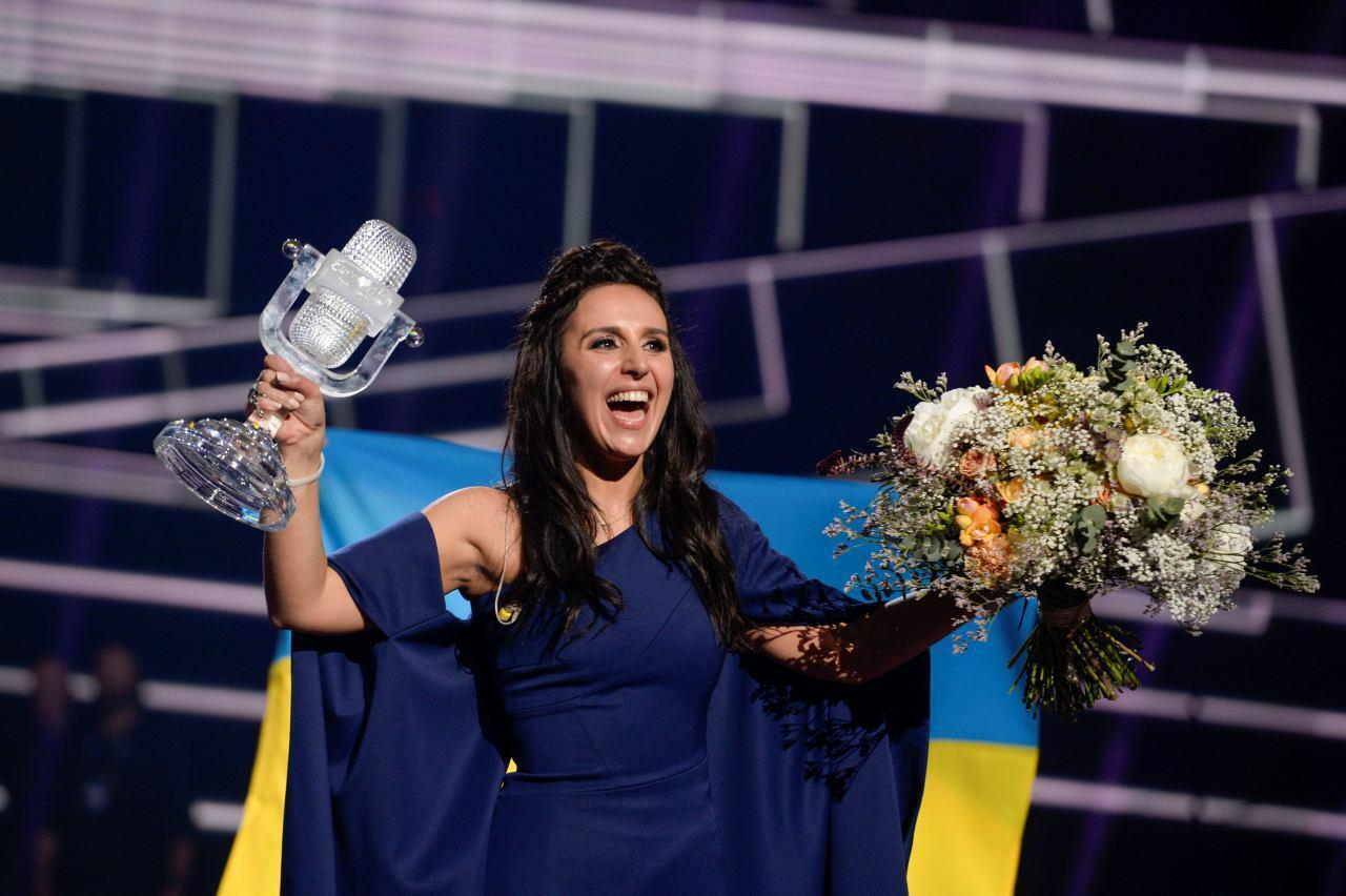 Джамала после победы на Евровидении (2016 год)