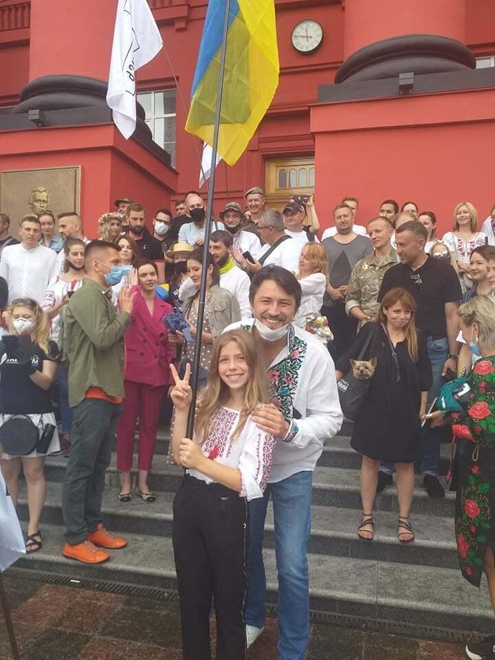 Сергей Притула посетил Марш защитников Украины