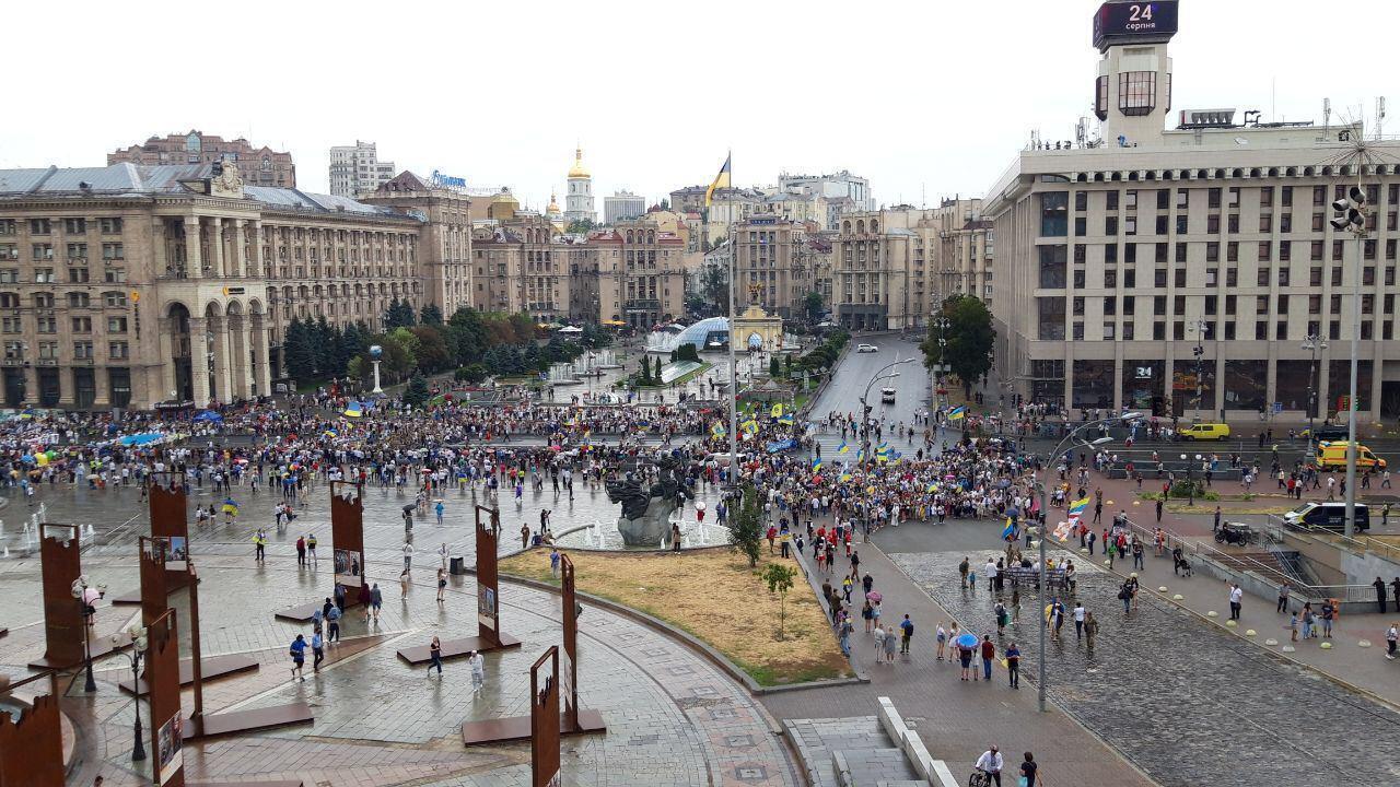 Марш независимости на главной площади Украины.