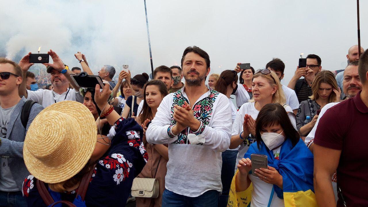 На марші помітили Сергія Притулу