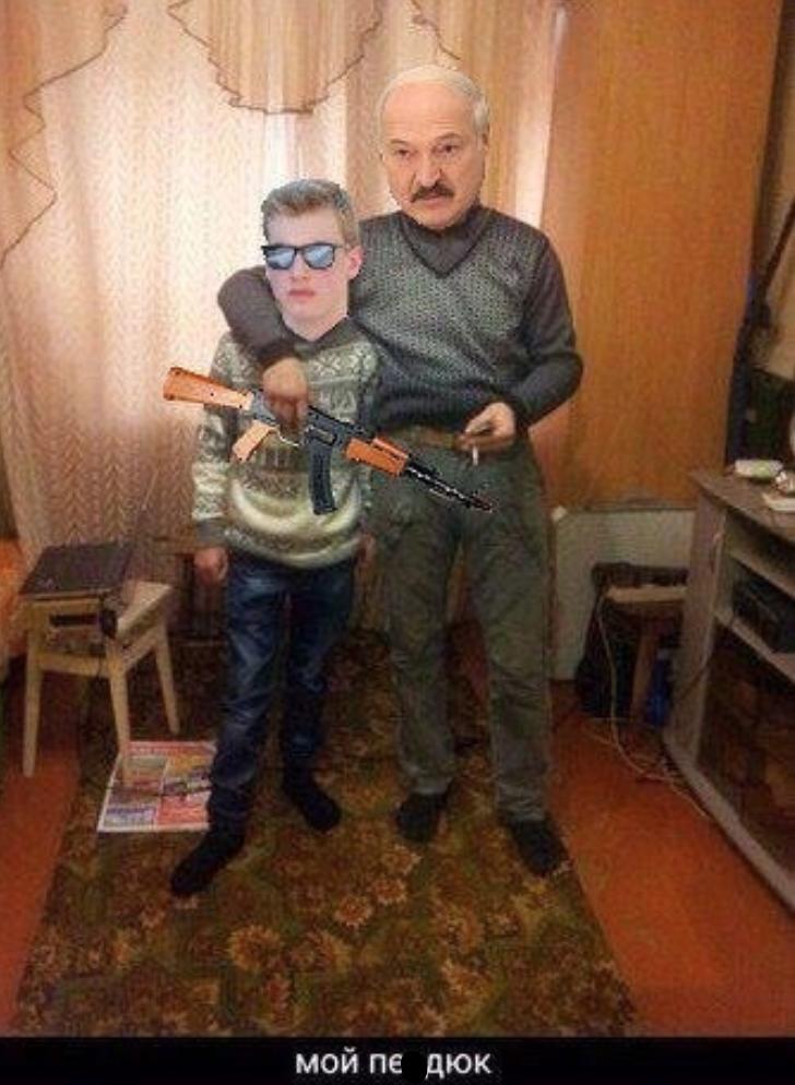 Лукашенко із сином Колею стали героями мемів