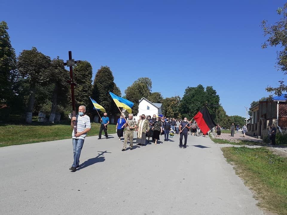 Похорон старшого лейтенанта ЗСУ Рудика