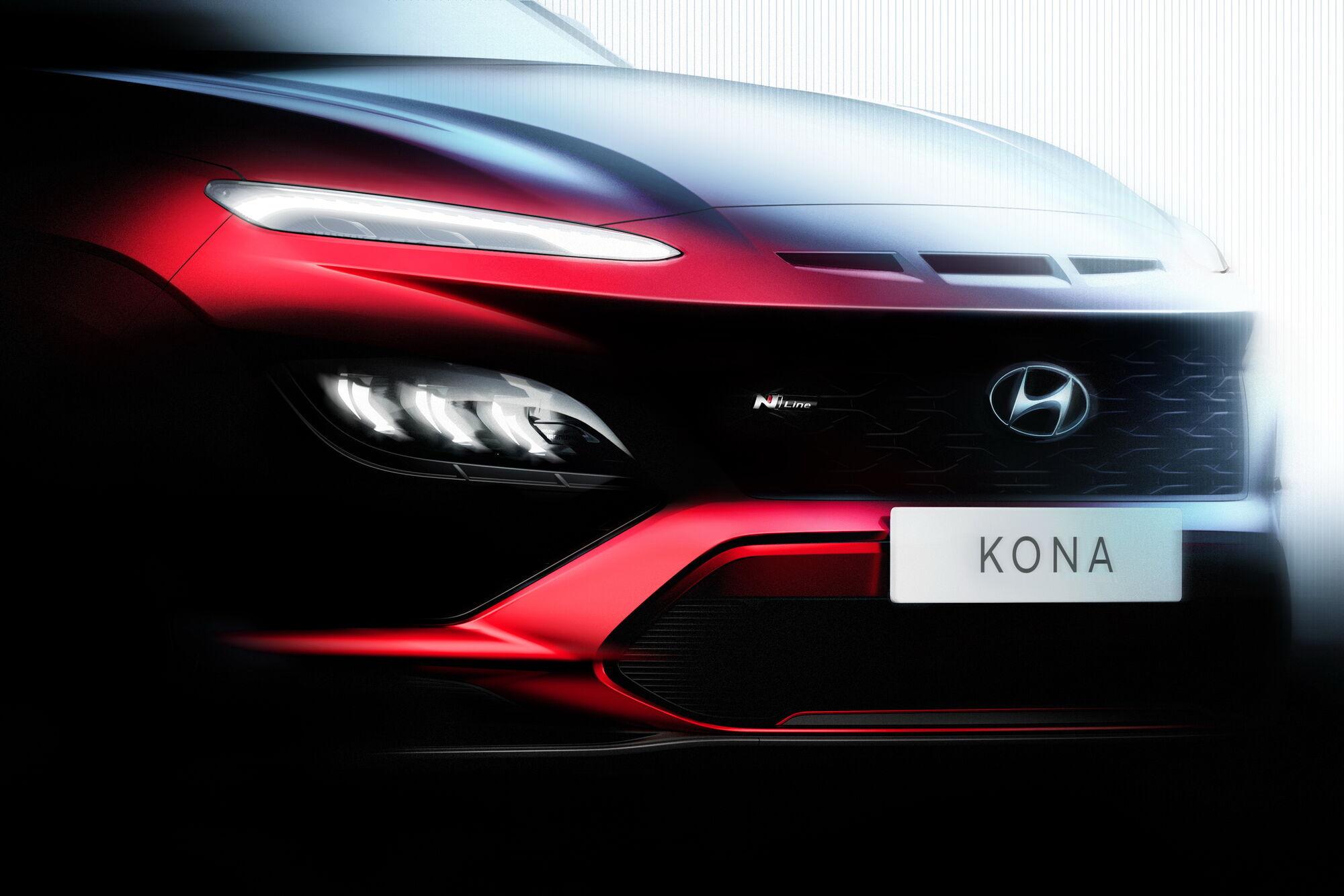 Обновленный кроссовер Hyundai Kona получит спортивную версию N Line. Фото: