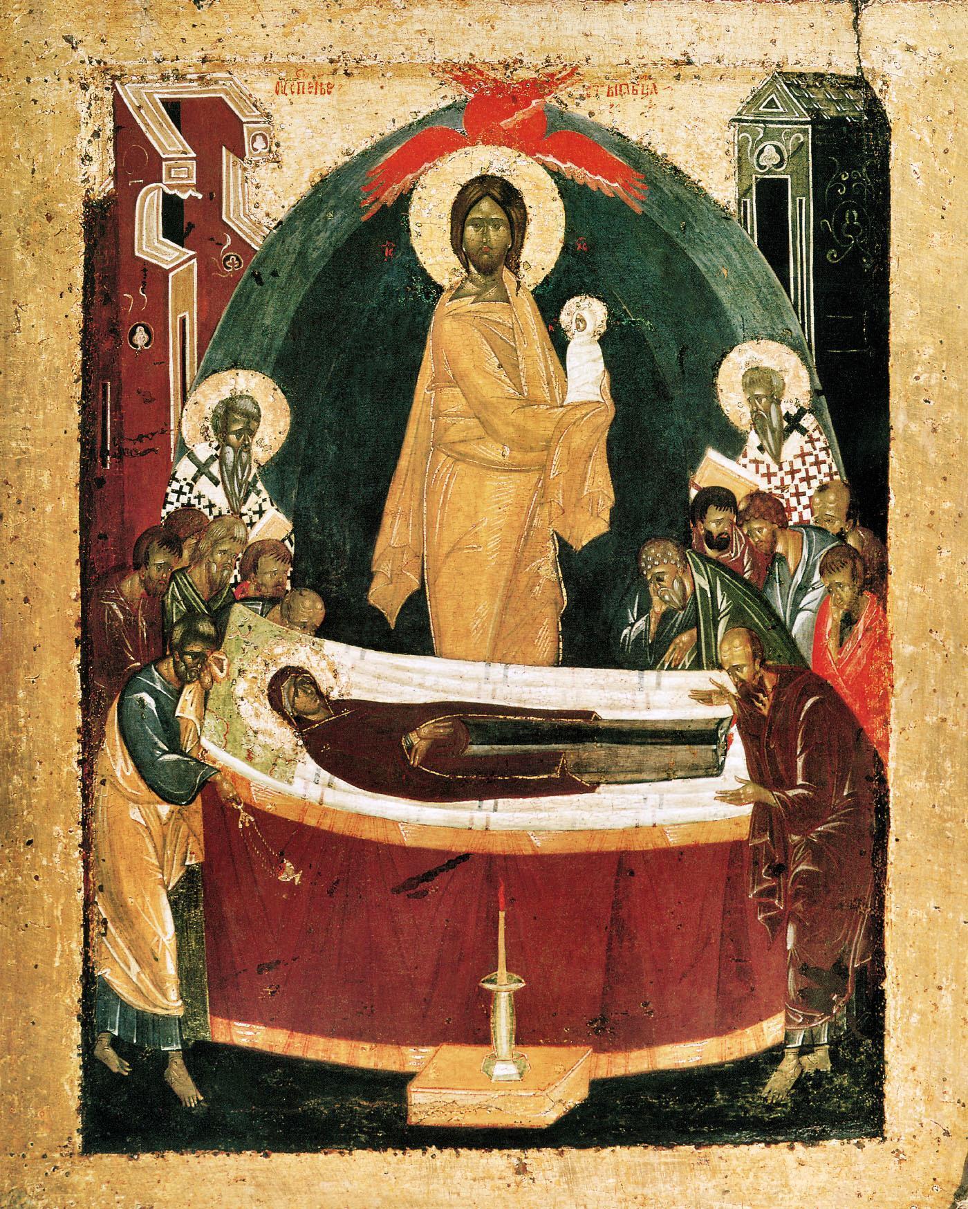 Успение Пресвятой Богородицы, 1392 год, оборот Донской иконы Божией Матери