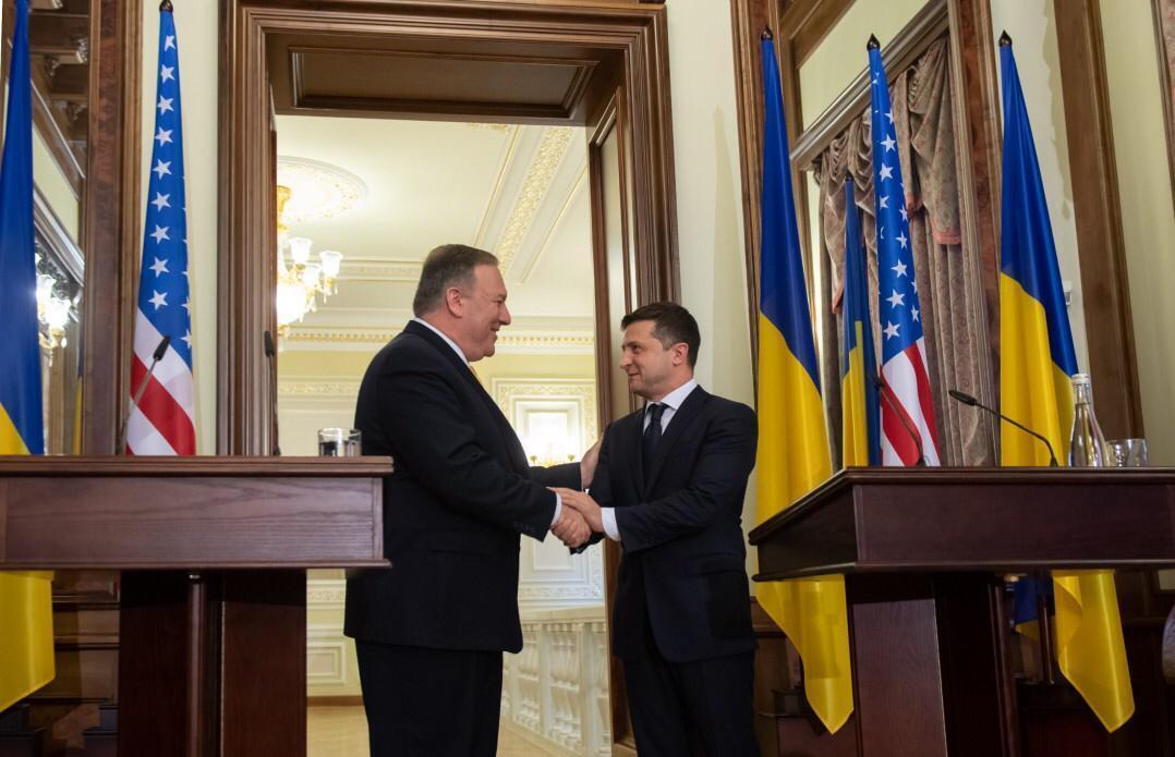 Президент Украины обсудил перемирие на Донбассе с госсекретарем США