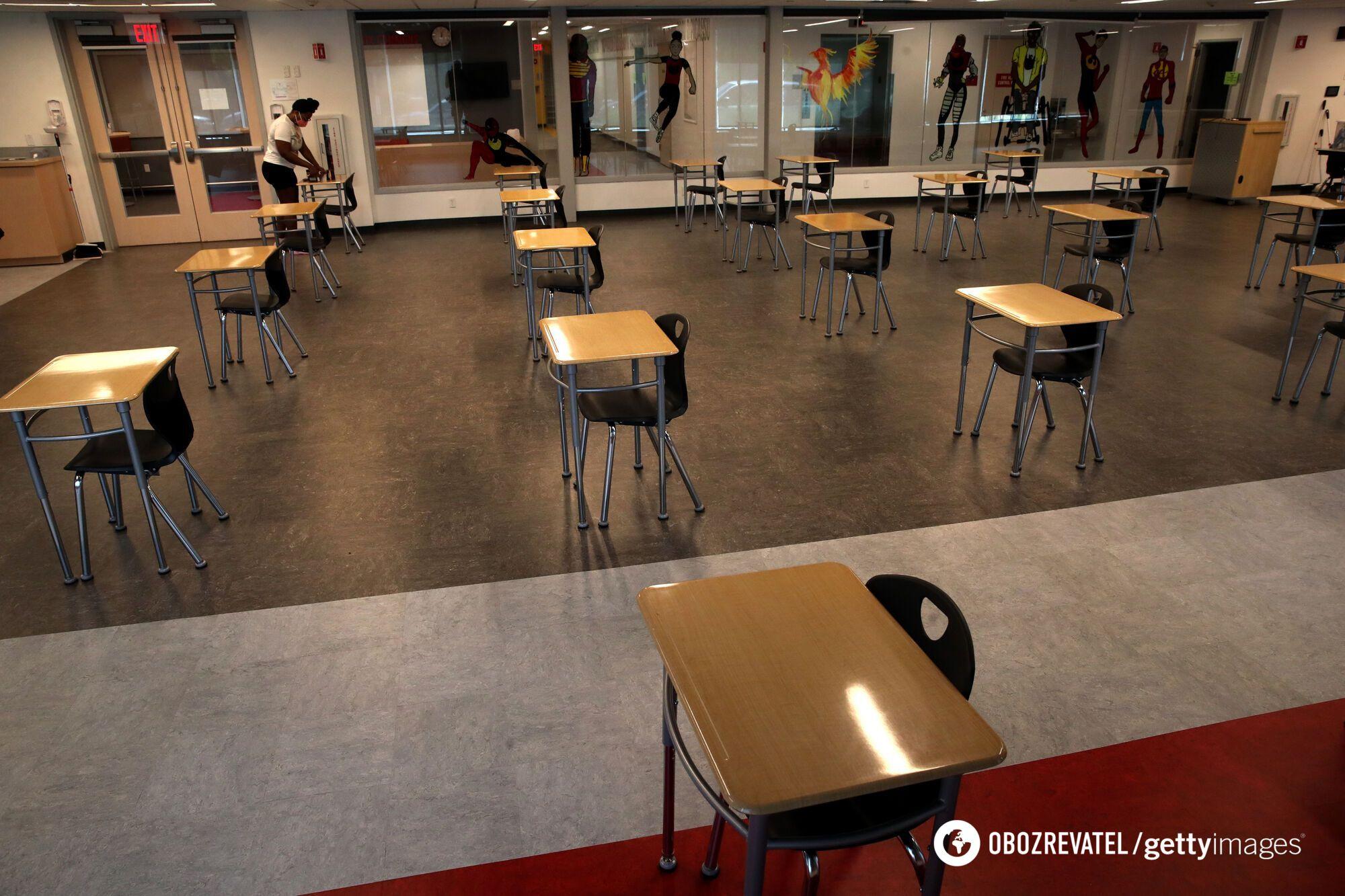 В школах подготовили отдельные классы