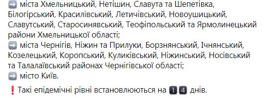 В Украине определили новые зоны карантина: список городов
