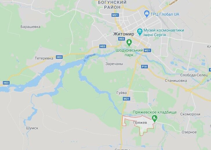 Трагедія трапилася біля села Пряжев