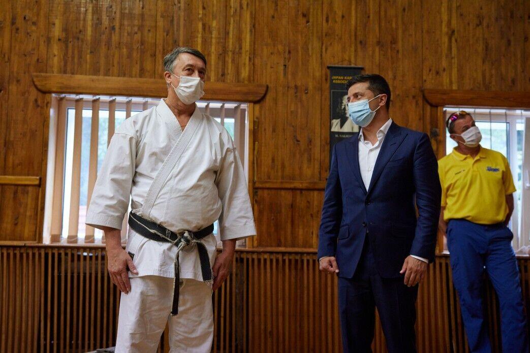 Зеленский посетил школу в Кропивницком, где обучают каратэ