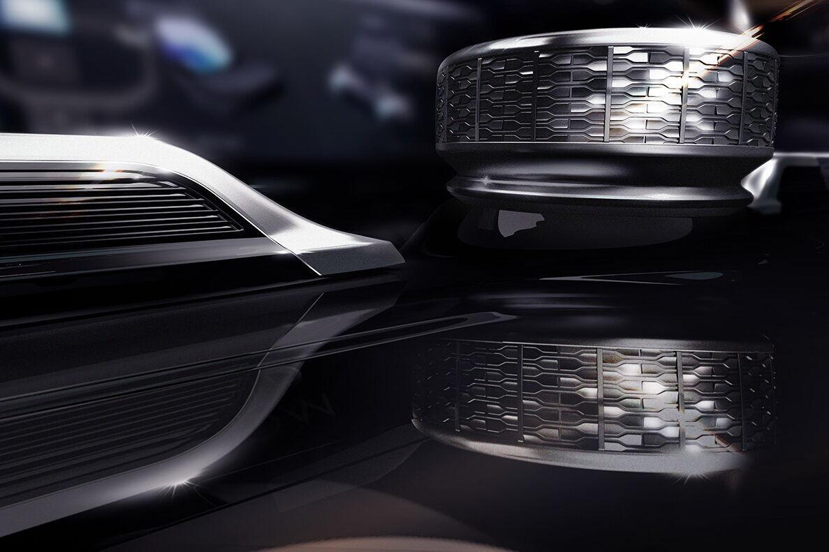 2021 Jeeo Wagoneer – контроллер мультимедийной системы. Фото: