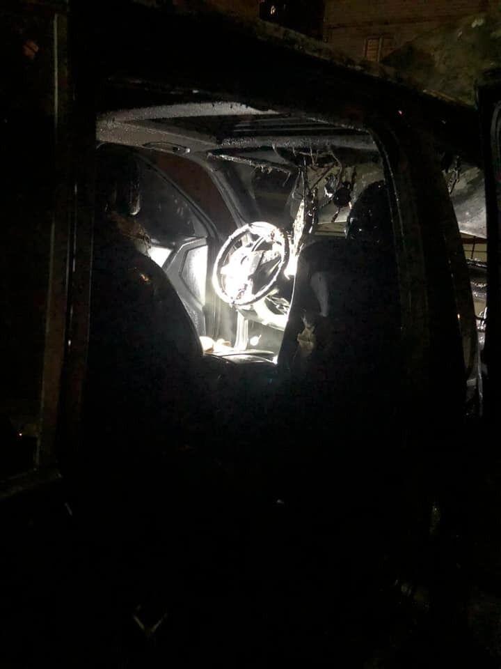 Автомобиль Лероса после пожара.