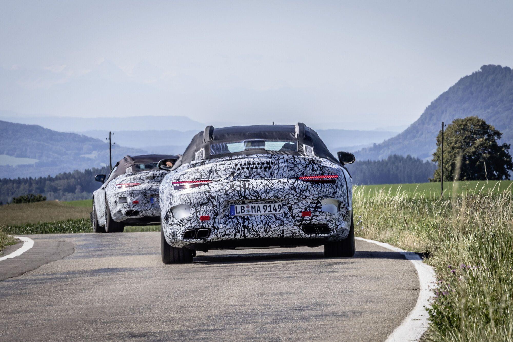 Прототипы Mercedes-Benz SL седьмого поколения. Фото: