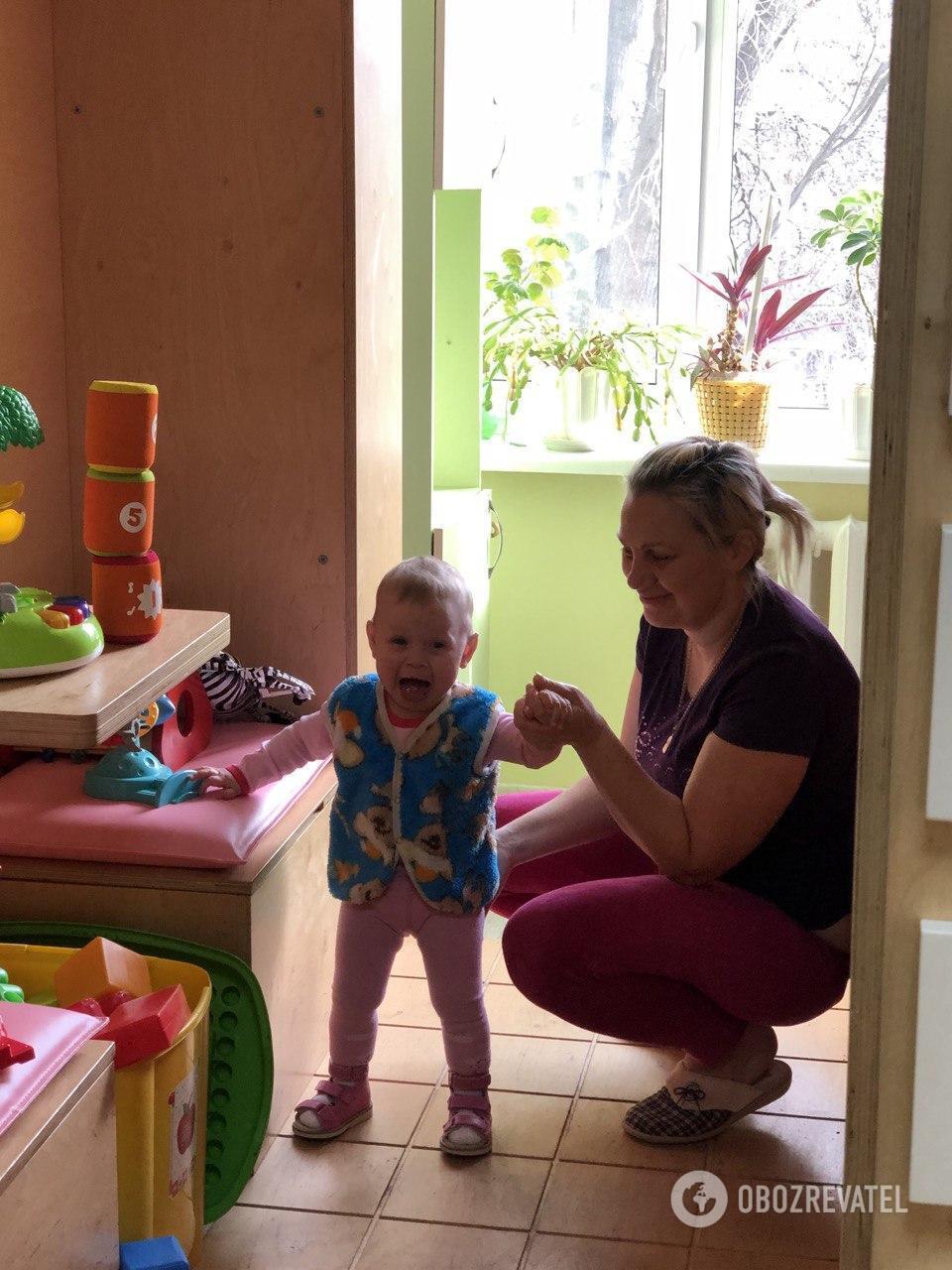 2-летняя Ника перед операцией