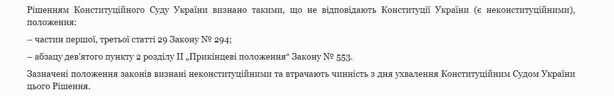 Рішення КС щодо закону про зміни до держбюджету.