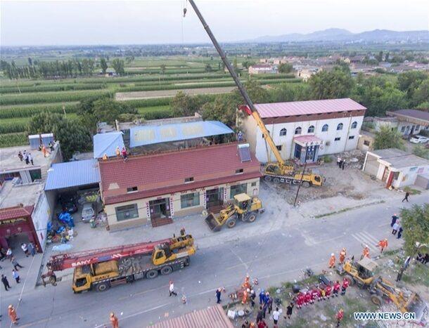 В Китае обрушился ресторан