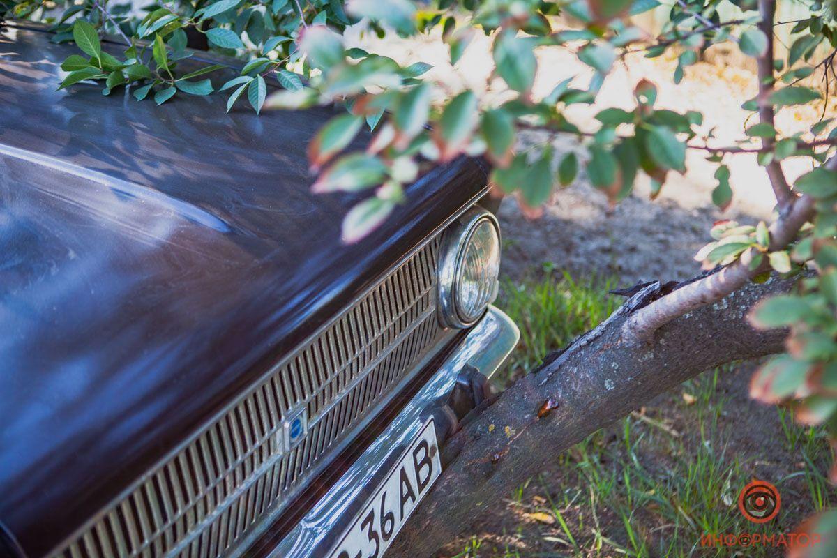 Авто виїхало на узбіччя і врізалося в дерево.