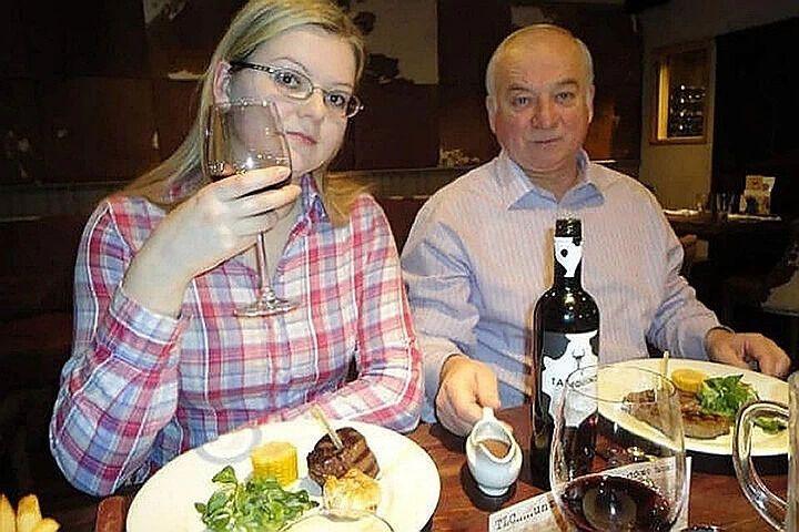 Сергій Скрипаль із дочкою Юлією