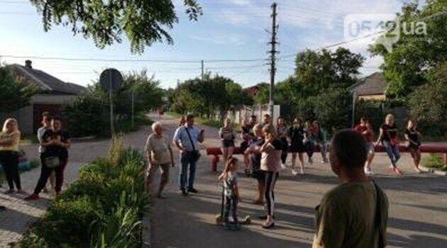 Местные жители вышли на акцию протеста