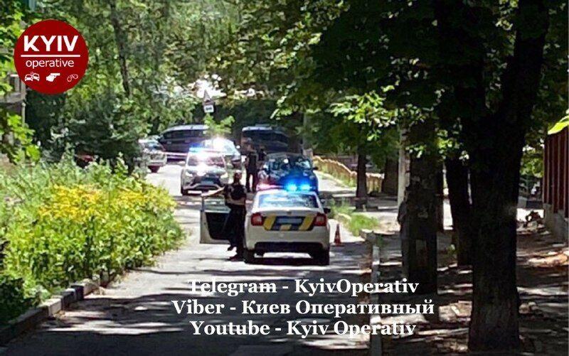 Поліція на вулиці Старокиївській