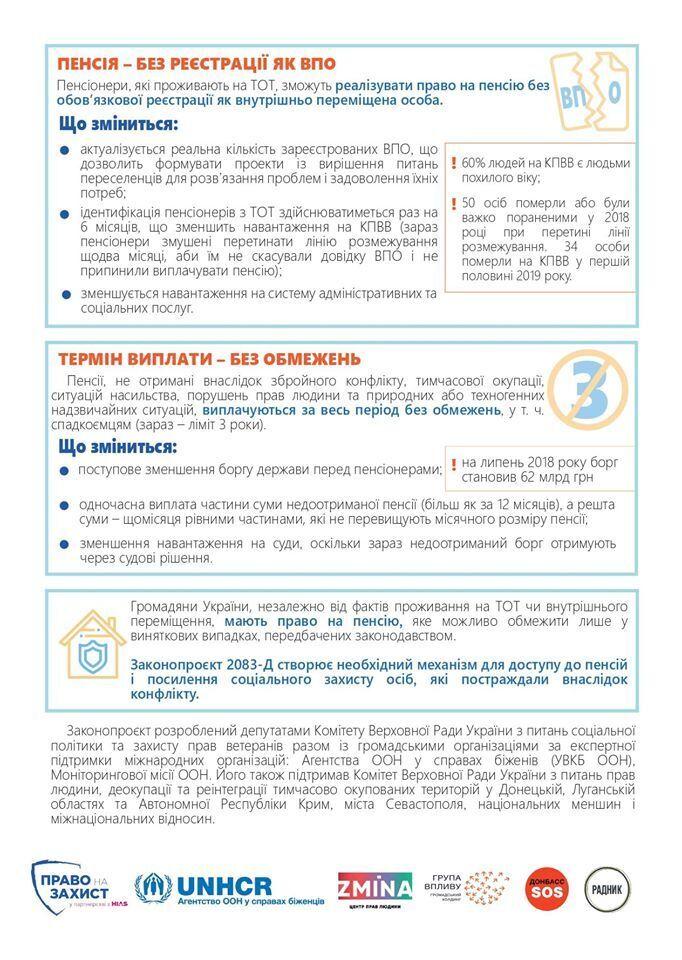 Законопроект о пенсиях в ОРДЛО