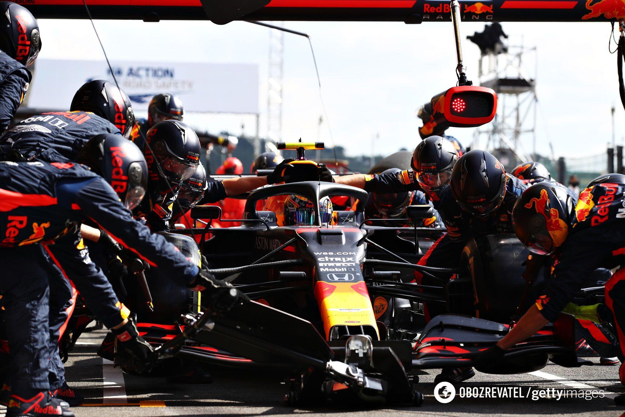 Гран-прі Бельгії: піт-стоп Red Bull