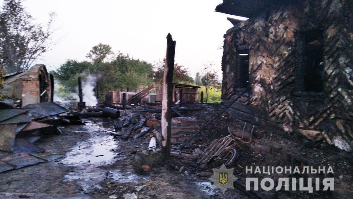 Сгорел дом многодетной семьи