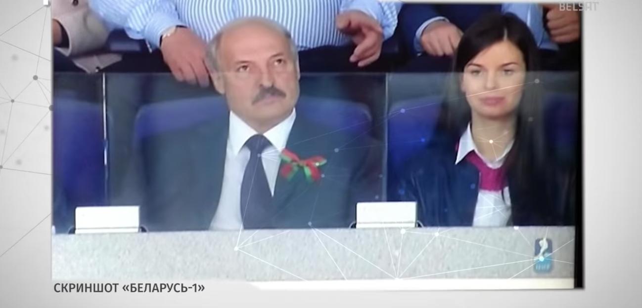 Лукашенко и Шманай на хоккейном матче