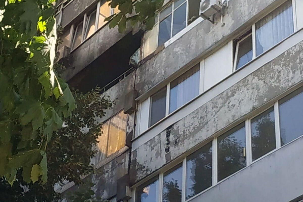 На пожаре пострадала 61-летняя женщина. Фото пресс-службы ГУ ГСЧС Украины в Днепропетровской области