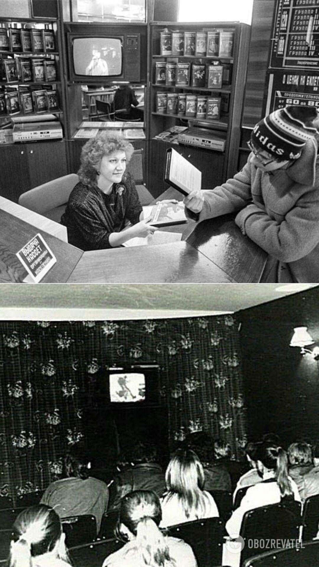В видеосалонах советские люди смотрели западные фильмы, которые еще больше разжигали в них интерес к заграничным вещам