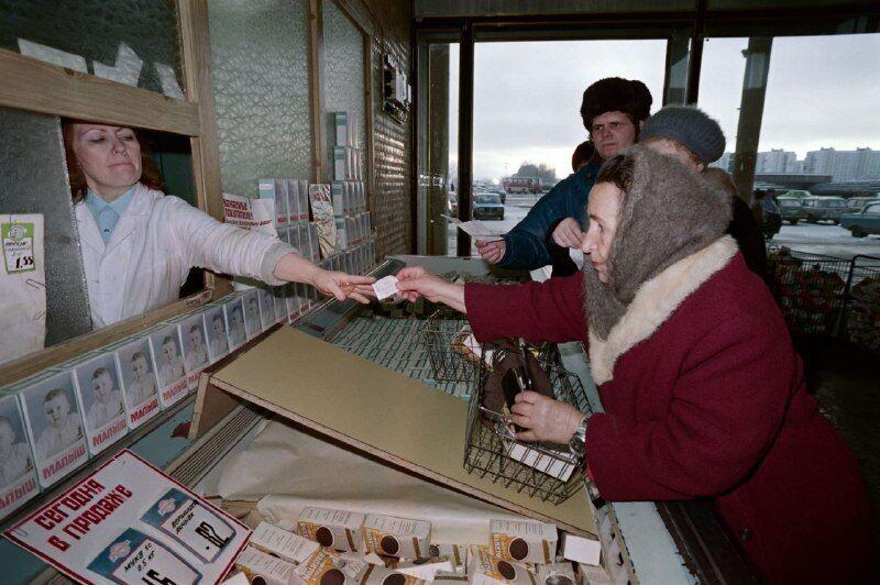 Порожні прилавки в СРСР