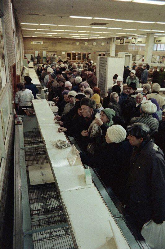 Черга і порожні полиці в СРСР