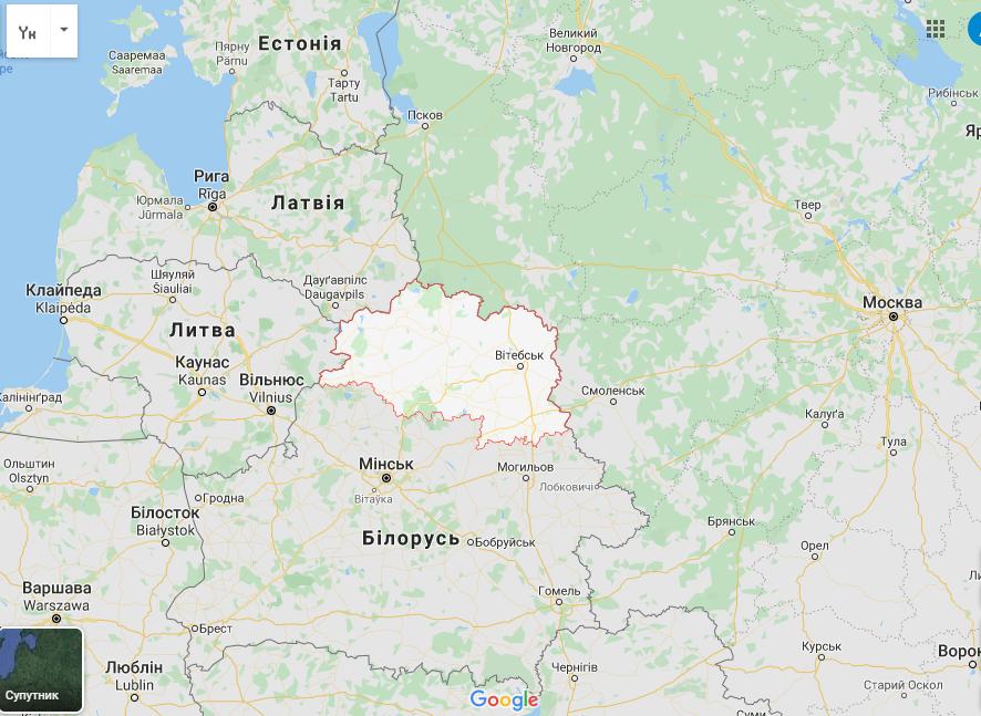Витебская область Беларуси граничит с Россией