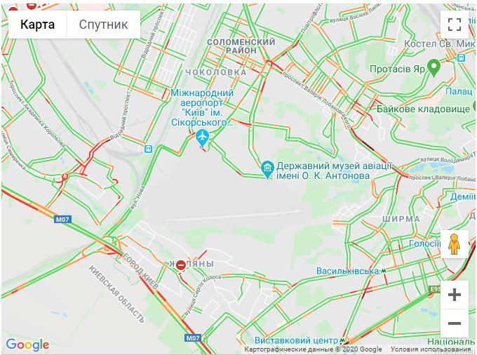 Затори в Києві 5 серпня
