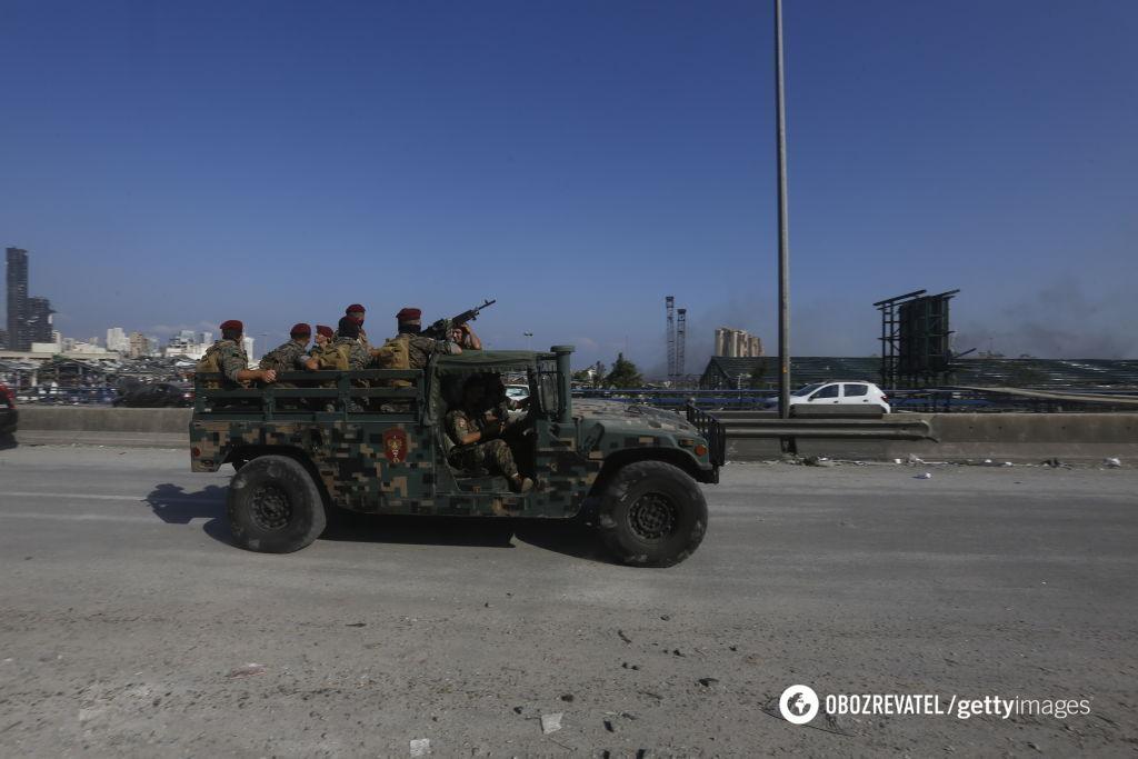 Военные в столице Ливана